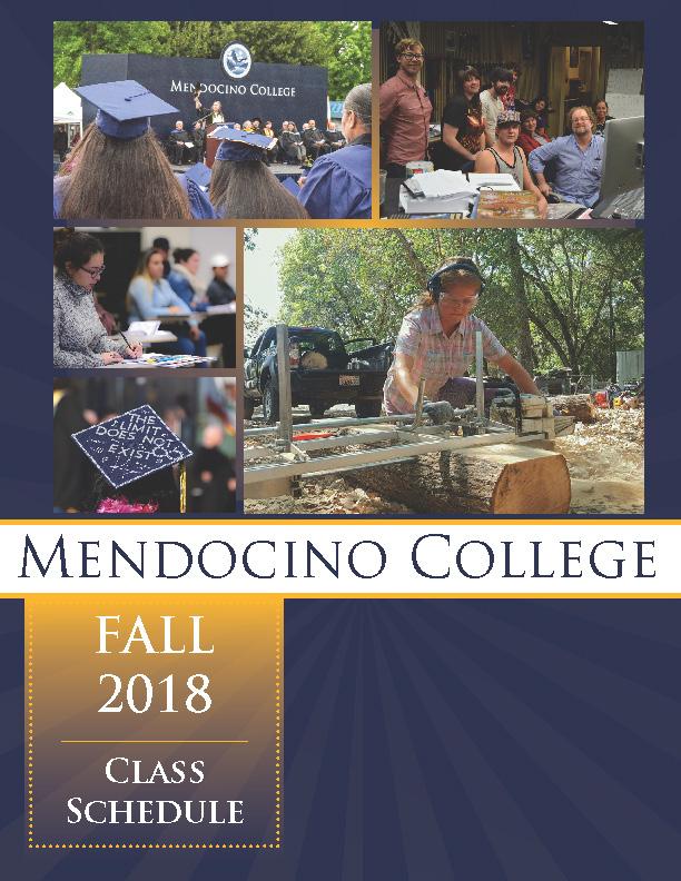 Class Schedule   Mendocino College