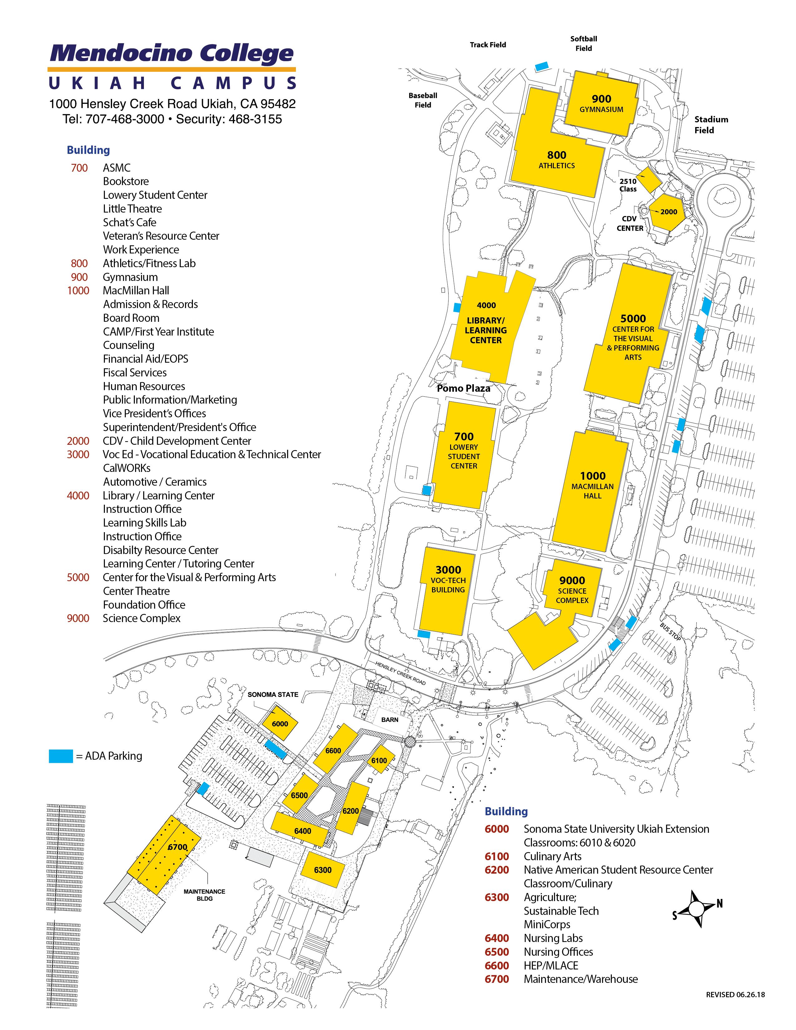Mendocino College Campus Map.Maps Mendocino College