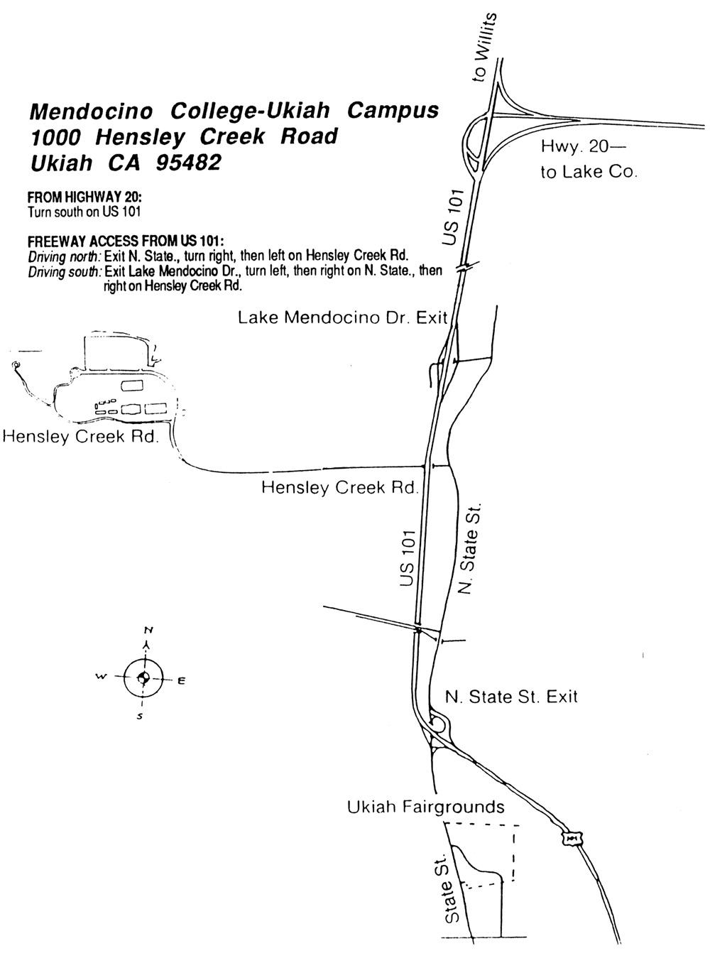 Directions – Map Ukiah Ca